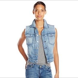 7 For All Mankind Denim Vest Size Small